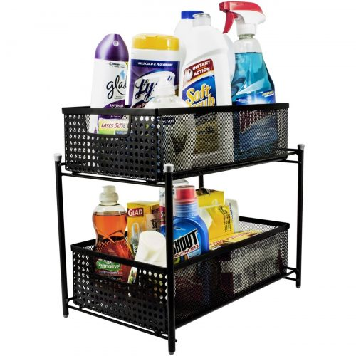 Sorbus 2 Tier Organizer Baskets with Mesh Sliding Drawers