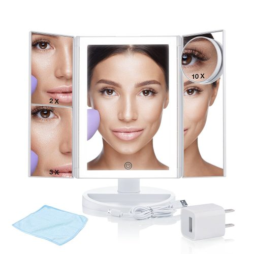 Tri-fold Lighted Makeup WONDER MIRROR SET
