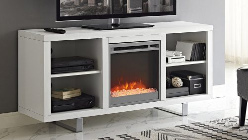 "WE Furniture 58"" Simple Modern Fireplace TV Console"