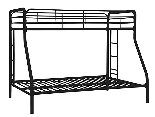 1. DHP Black Twin-Over-Full Bunk Bed- Best Bunk Beds