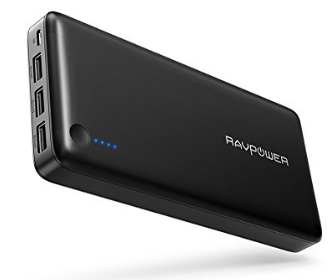 RAVPower, Portable Charger RAVPower 26800 Battery Packs 26800mAh Total 5.5A Output 3-Port Power Bank