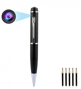 Mini Camera Pen, HD 1080P Nanny Cam Home Convert Security Camera Roller Ball Pen