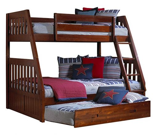 2. Discovery World Furniture Twin Over Merlot Bunk Bed