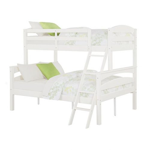 3. Dorel Living White Twin over Bunk Bed with Ladder
