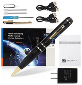 Spy camera with 32GB GSmade Full HD 2K Spy Pen Camera HD Video Recording Pen