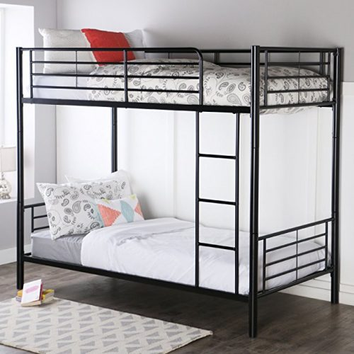 5. Walker Edison Metal Bunk Bed (Twin-Over-Twin)