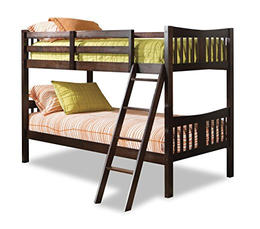 8. Stork Craft Espresso Twin Bunk Bed
