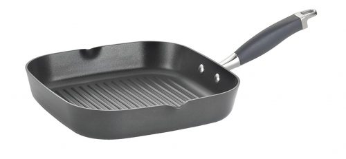 Anolon Advanced Hard-Anodized Nonstick 11-Inch Deep Square Grill Pan