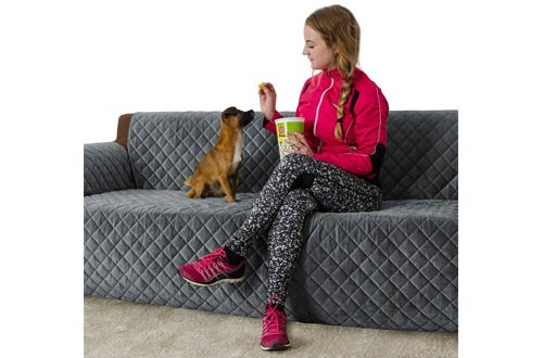 Furry Buddy Quilted Velvet Pet Sofa Cover,