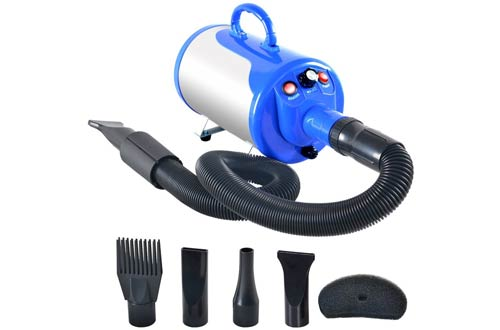 SHELANDY 3.2HP Stepless Adjustable Speed Pet hair force dryer Dog