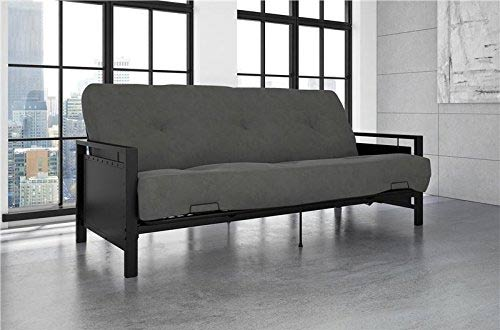 Medium image of dhp henley black sturdy metal futon frame converts to sleeper