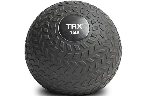 TRX Slam Ball with Easy-Grip Textured Surface and Ultra-Durable Rubber Shell