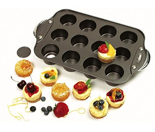 Norpro Nonstick Mini Cheesecake Pan with Handles-Quiche Pans