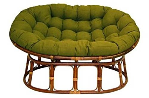 International Caravan Double Papasan Chairs With Fabric Cushion