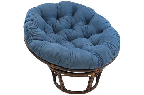 Blazing Needles Solid Microsuede Papasan Chair Cushion