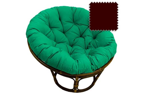 Bali Rattan Papasan Chair with Cushion