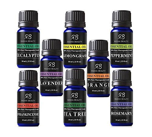 Radha Beauty Aromatherapy Top 8 Essential Oils