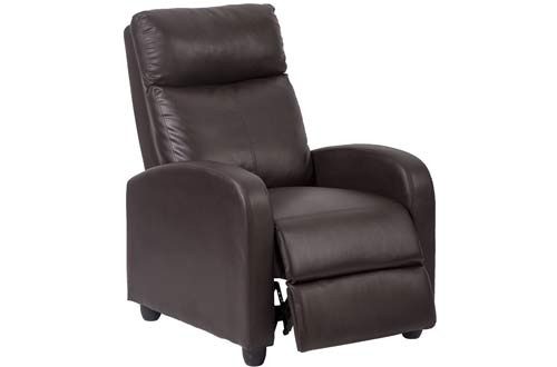 Single Recliner Chair Sofa Furniture Modern Leather Chaise Couch