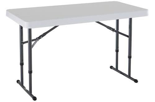 Lifetime White Granite Commercial Height Adjule Folding Utility Table
