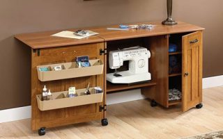 Sauders Folding Sewing Tables / Craft Center