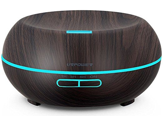 URPOWER Essential Oil Diffuser, 200ml Wood Grain Aromatherapy Diffuser