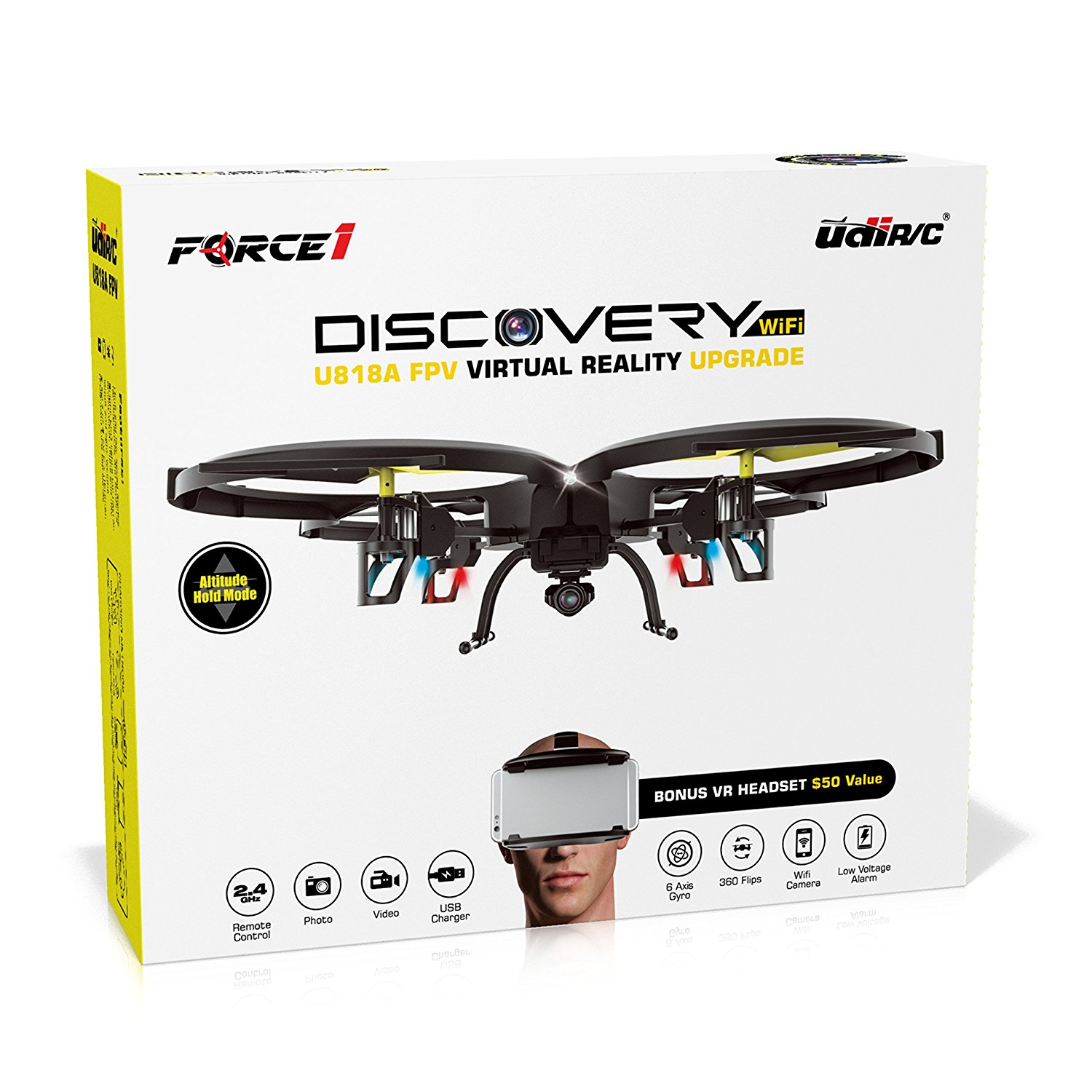 1. Force1 UDI U818A Headset Drone