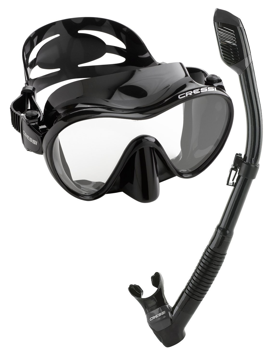 10. Cressi Scuba Diving Snorkeling Mask Set