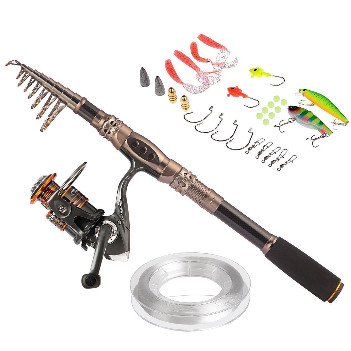 10. PLUSINNO Fishing Rod and Reel Combos