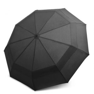 EEZ-Y Compact Travel Umbrella w/ Windproof Double Canopy Construction