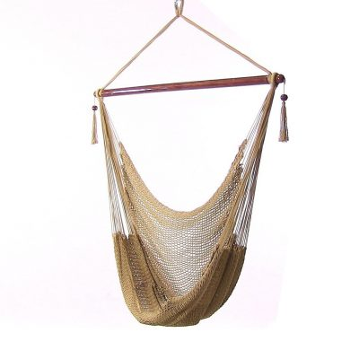 6. Sunnydaze Hanging Caribbean Extra Large Hammock Chair