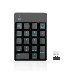 Jelly Comb 2.4G Number Pad , 18 Key Wireless Silent Numeric Gaming keypad