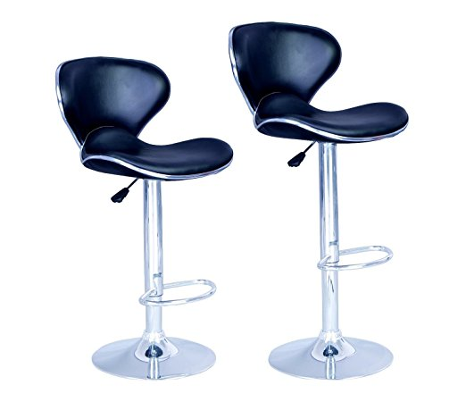 6. BestOffice New Modern Swivel Bar Stools (Set of 2)