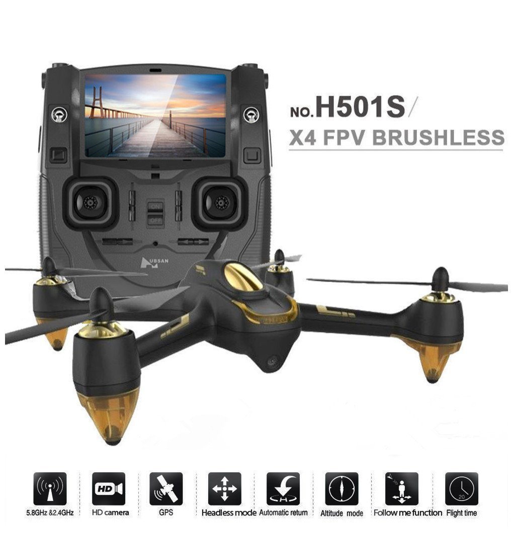 8. Hubsan H501S X4 BRUSHELESS FPV Quadcopter