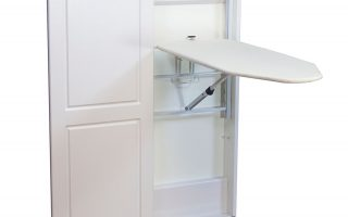 Household Essential 18300—Iron & Fold Floor Cabinet Fold-Away Ironing Board