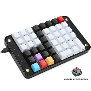 Koolertron Single-Handed Programmable Mechanical Gaming Keypad, 46 Programmable Keys Tools Keypad