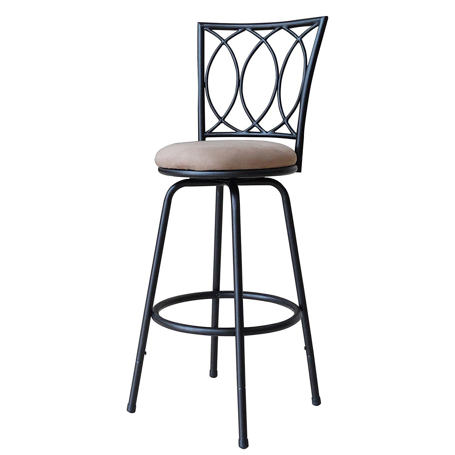 2. Roundhill Furniture Powder Coated Black Barstool
