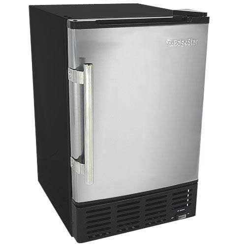 6. EdgeStar IB120SS Built-in Ice Maker, 12 lbs, Stainless Steel and Black