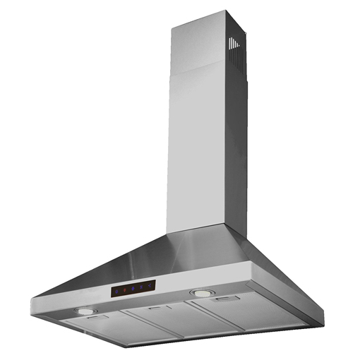 10. Kitchen Bath Collection STL75-LED Stainless Steel Wall-Mounted Kitchen Range Hood