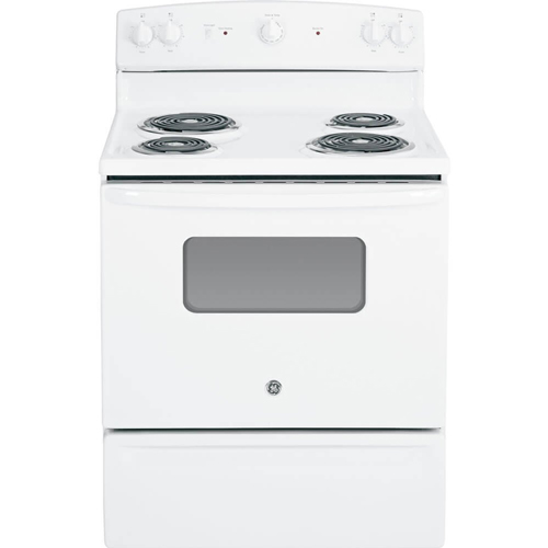 9. GE JBS10DFWW 30-Inch 5 Cu.Ft. Free-Standing Electric Range, White