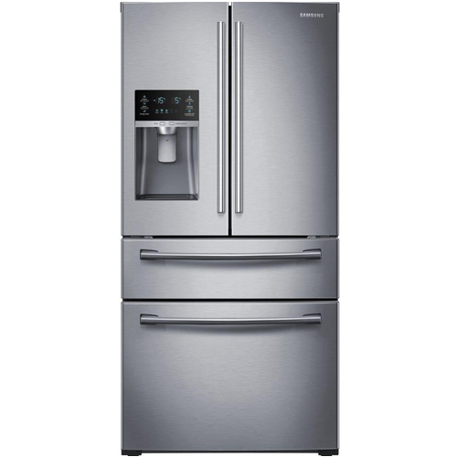 9. SAMSUNG RF28HMEDBSR French Door Refrigerator, 28 Cubic Feet, Stainless Steel