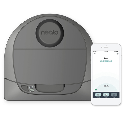 6. Neato Botvac D3 Wi-Fi Connected Laser Navigating Robot Vacuum, Compatible with Alexa