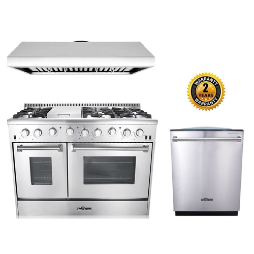 7. Thor Kitchen 3-Piece Kitchen Package with HRG4808U 48