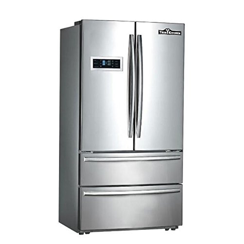 2. Thorkitchen HRF3601F Cabinet Depth French Door Refrigerator, Ice Maker, 36