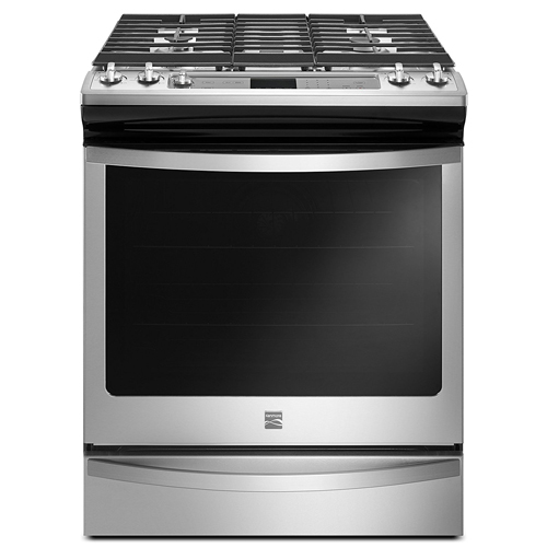 10. Kenmore 75123 5.8 Cu. Ft. Gas Range in Stainless Steel