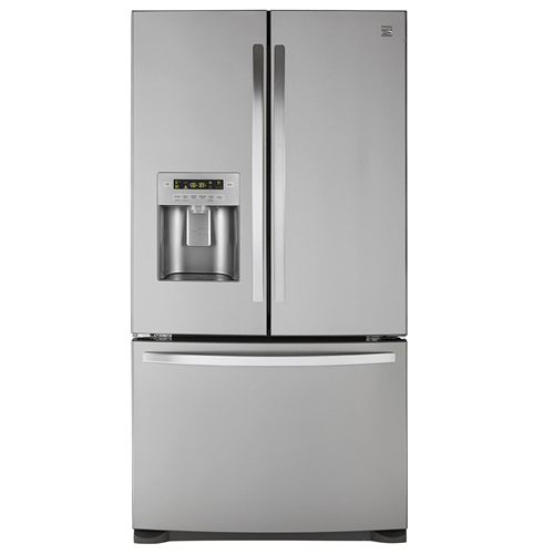 1. Kenmore 73055 26.8 cu. ft. French Door Bottom Freezer Refrigerator in Stainless Steel with Active Finish, includes delivery and hookup (Available in select cities only)