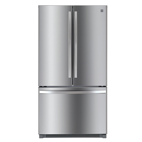 4. Kenmore 73025 26.1 cu. ft. Non-Dispense French Door Refrigerator in Stainless Steel with Active Finish, includes delivery and hookup (Available in select cities only)