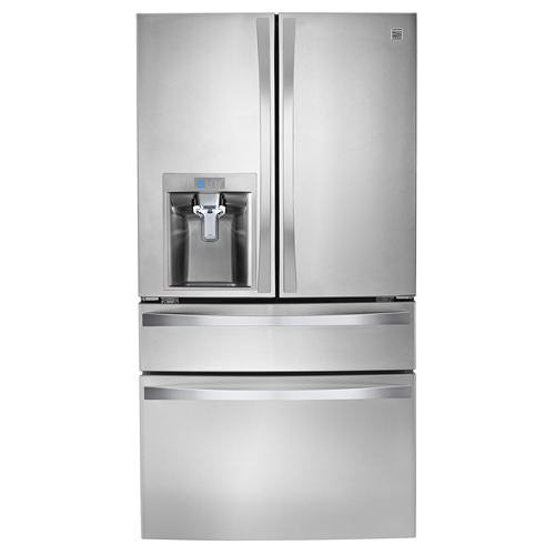 8. Kenmore Elite 72483 29.9 cu. ft. 4 Door Bottom Freezer Refrigerator with Dispenser in Stainless Steel, includes delivery and hookup (Available in select cities only)
