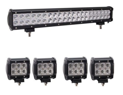 Top 10 best led light bars in 2018 bangbangche 1x 20 126w flood spot combo cree led light bar aloadofball Gallery