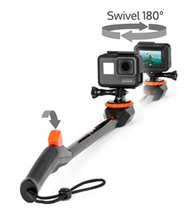 Spivo 360 Waterproof Swivel Selfie Stick for GoPro