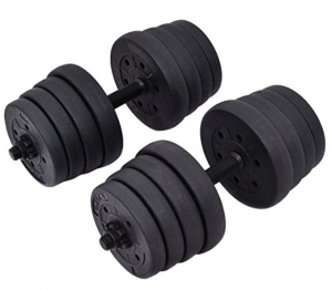 9. Giantex 66LB Weight Dumbbell Set